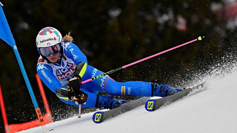 Marta Bassino at the World Ski Championships Women's Giant Slalom on February 14, 2019 in Are Sweden