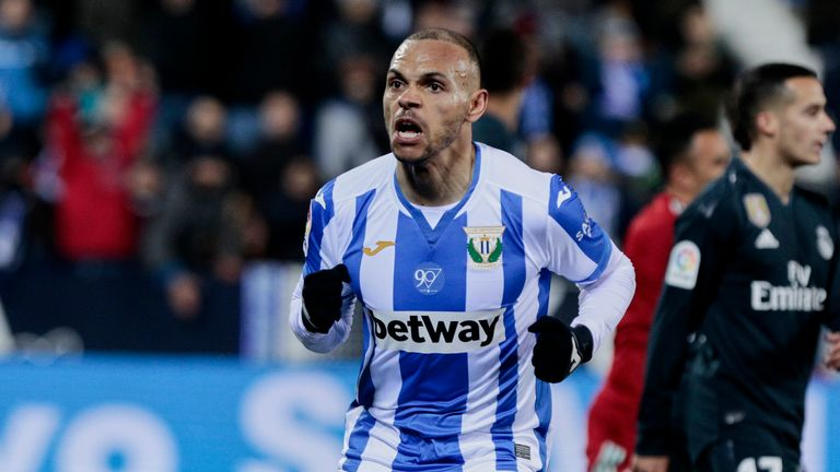 Martin Braithwaite helped Leganes to a crucial victory over Rayo Vallecano