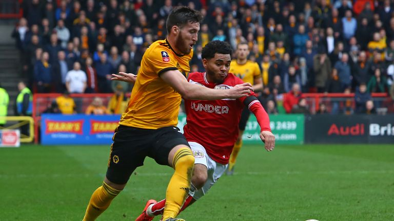 Matt Doherty (left) got an assist against Bristol City and nearly scored