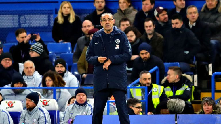 Maurizio Sarri was left confused by his side's performance in their 2-0 defeat to Manchester United