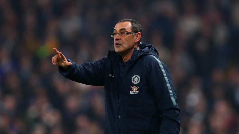 Sarri seemed more relaxed in his post-match press conference