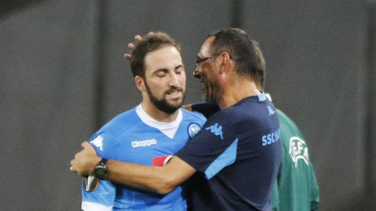 Higuain scored a career-best 38 goals in the one season he has worked with Sarri previously