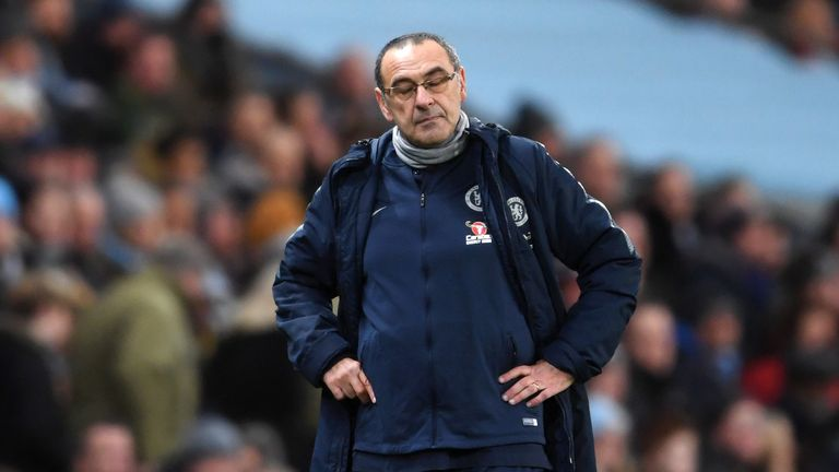 Maurizio Sarri is under pressure at Chelsea