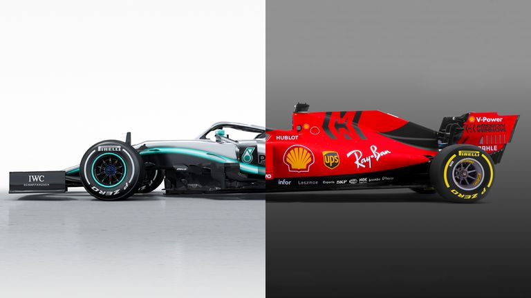 Mercedes and Ferrari