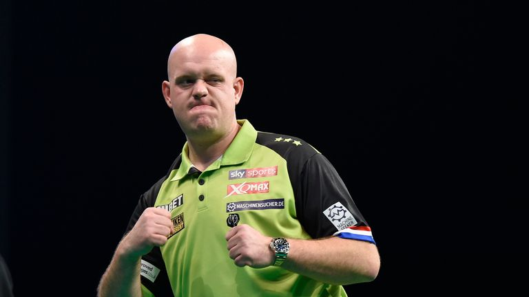 Michael van Gerwen was in superb form at PL Darts in Nottingham