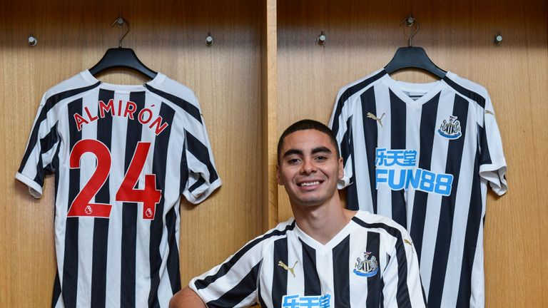 Miguel Almiron is set to make his Newcastle debut against Wolves