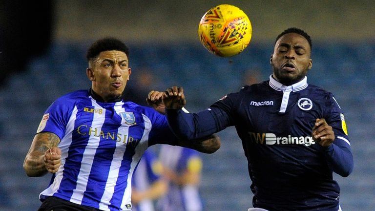 Liam Palmer of Sheffield Wednesday (left) has been handed a first call-up