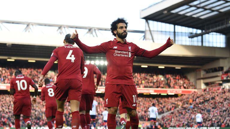 Mohamed Salah has not scored for Liverpool since February 9