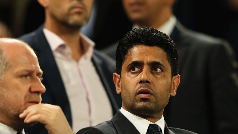 Nasser Al-Khelaifi is the president of French champions Paris Saint-Germain