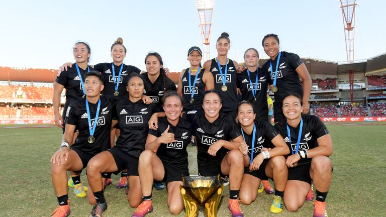 New Zealand women are in a commanding position at the top of the Seven Series standings
