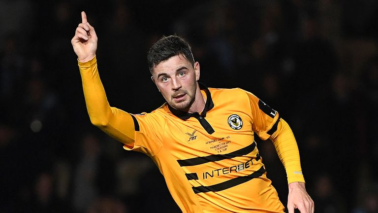 Padraig Amond had pulled a goal back for Newport to make it 2-1 in the 88th minute