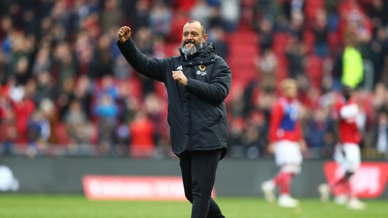 Nuno's side are now comfortably in the top half