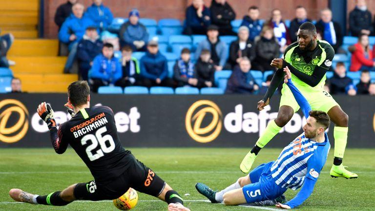 Odsonne Edouard forces a good save out of Kilmarnock's Daniel Bachmann