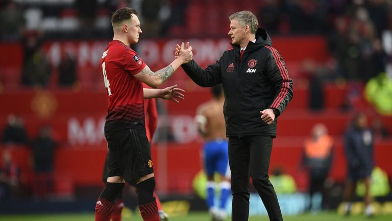 Manchester United have won 10 of 11 games since Ole Gunnar Solskjaer (right) took the lead