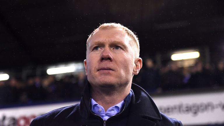 Paul Scholes ahead of the Sky Bet League Two match between Oldham Athletic and Yeovil Town at Boundary Park
