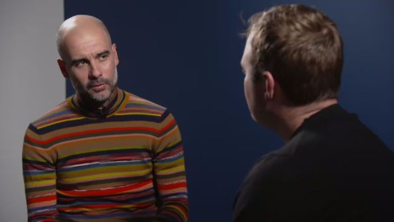 Tubes met Guardiola for this week's Soccer AM show