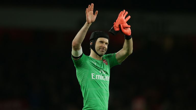 Petr Cech during Arsenal's FA Cup match against Manchester United