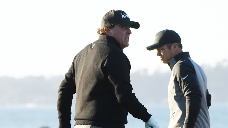 Mickelson and Casey were the only two players to return on Monday