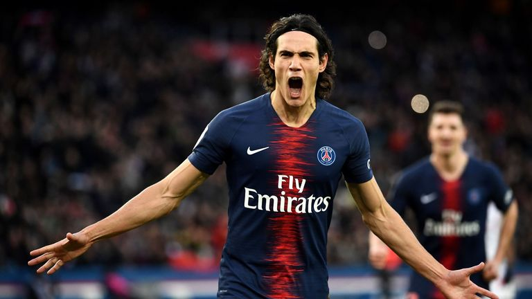Cavani scored 18 goals from 20 starts in Ligue 1 last season
