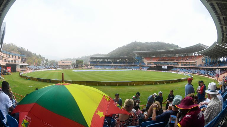 Rain stopped any play from taking place in the third ODI in Grenada