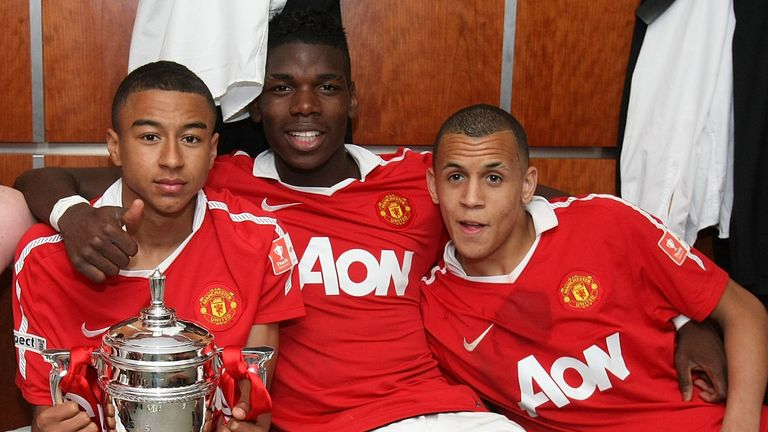 Ravel Morrison, pictured with Paul Pogba and Jesse Lingard after winning the FA Youth Cup in 2011
