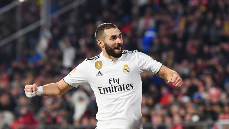 Karim Benzema scored twice in the victory