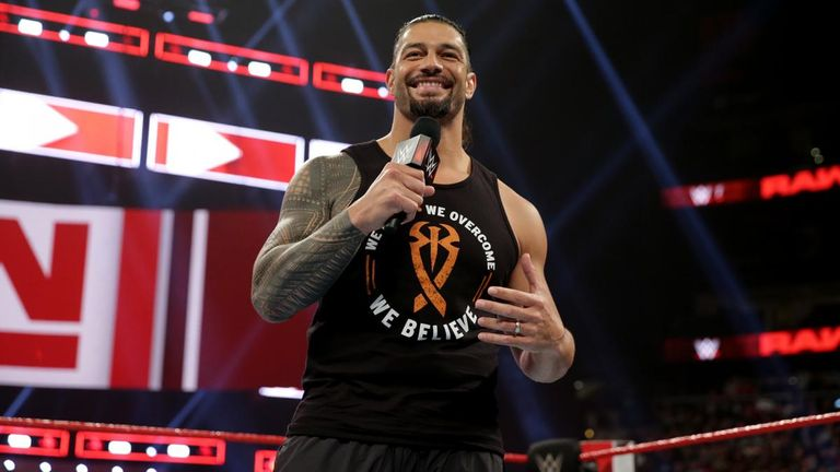 Reigns delighted fans with his comeback on Raw earlier this month just four months after revealing his battle with leukaemia