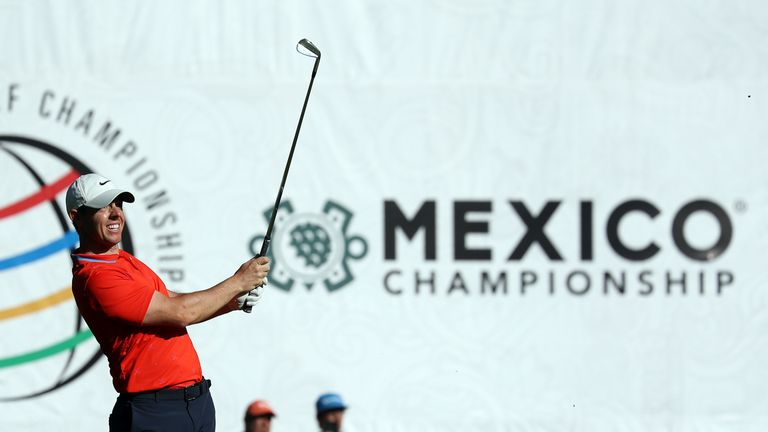 McIlroy came close to a hole-in-one at the par-four first