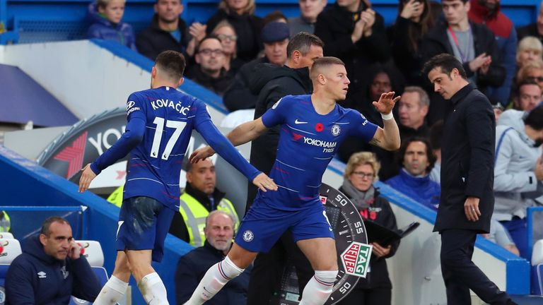 Ross Barkley and Mateo Kovacic have been rotated by Sarri in the Chelsea side