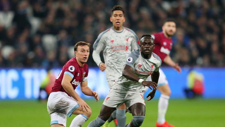 Sadio Mane in action for Liverpool against West Ham