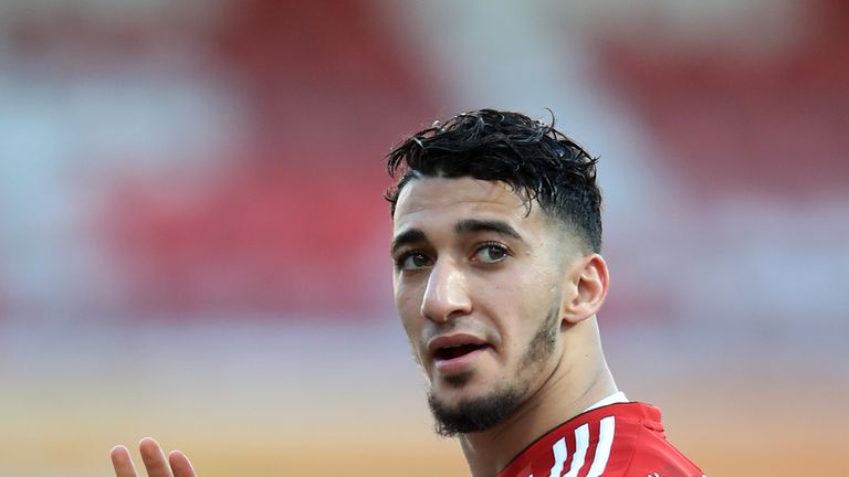 Said Benrahma scored a hat-trick for Brentford