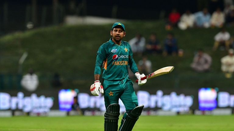 Sarfraz Ahmed of Pakistan could return following the completion of the four-match ban