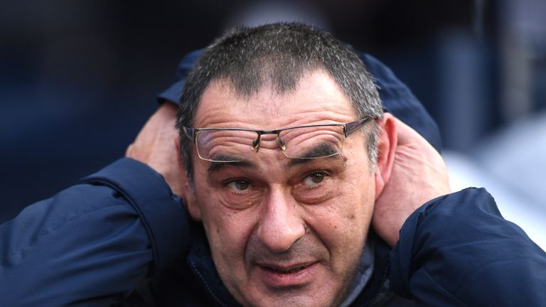 Maurizio Sarri is coming under increasing pressure as Chelsea head coach