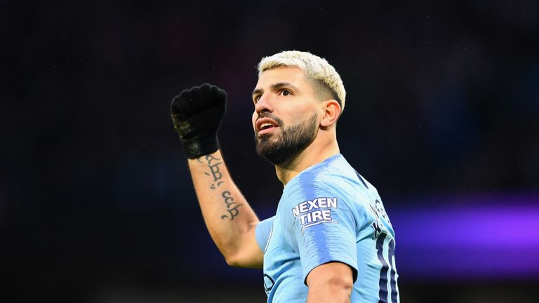 Sergio Aguero was in both teams after his hat-trick