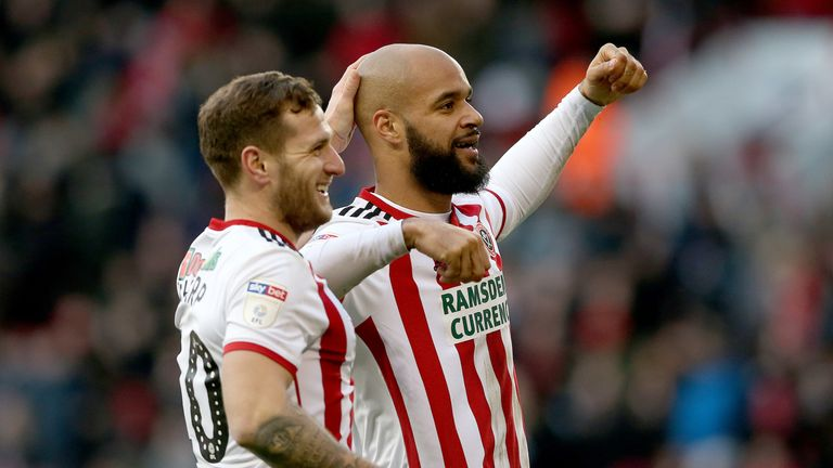 Sheffield United goalscorers Billy Sharp and David McGoldrick