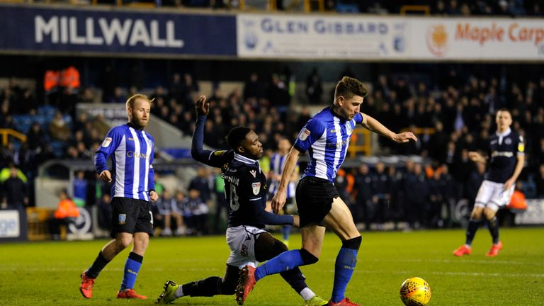 Millwall and Sheffield Wednesday both wore kits featuring blue on Tuesday night