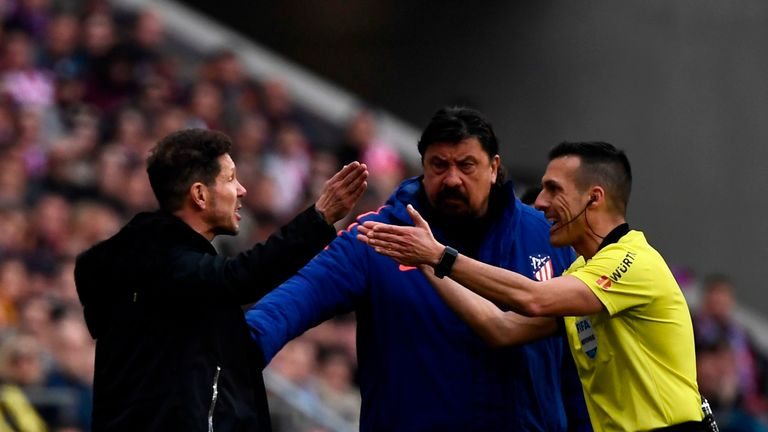 Diego Simeone saw his Atletico Madrid side lose their first home game of the season to rivals Real Madrid