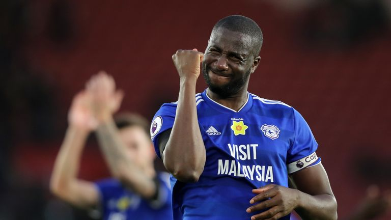 Sol Bamba celebrates Cardiff's 2-1 win over Southampton