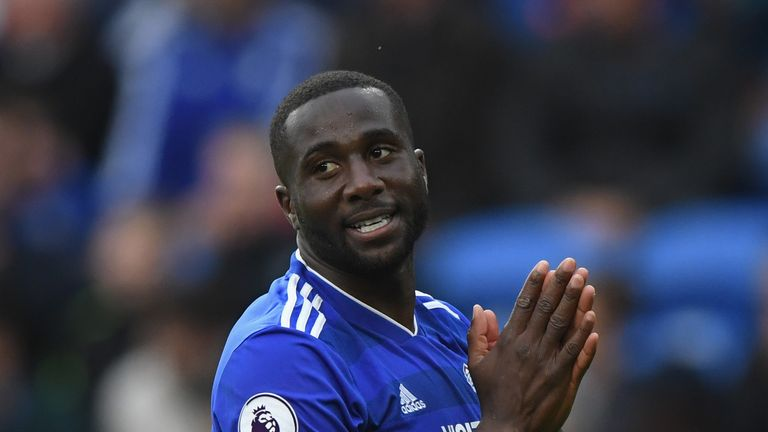 Sol Bamba during the Premier League match between Cardiff City and Burnley FC at Cardiff City Stadium on September 30, 2018 in Cardiff, United Kingdom.
