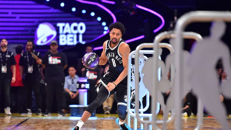 Spencer Dinwiddie won the All-Star Skills Challenge in 2018