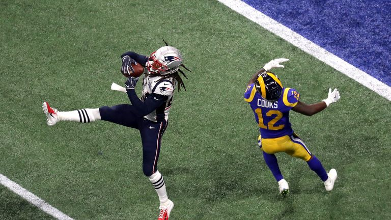New England all but clinched their victory with Stephon Gilmore's fourth-quarter interception