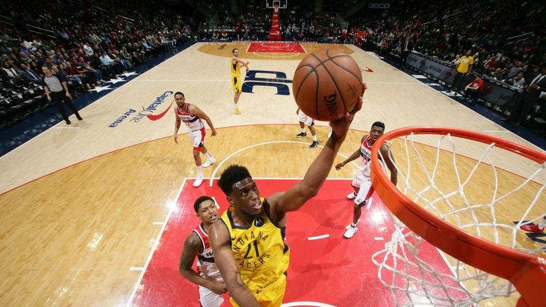 Thaddeus Young's 22 points led the Pacers past the Wizards