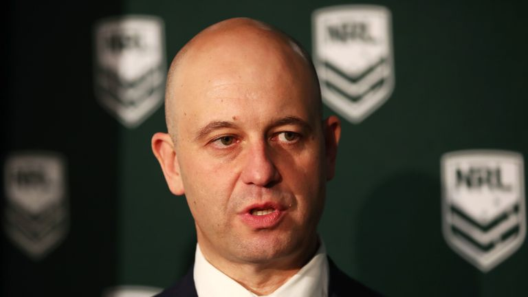NRL CEO Todd Greenberg has had to face questions regarding concussion protocol this weekend