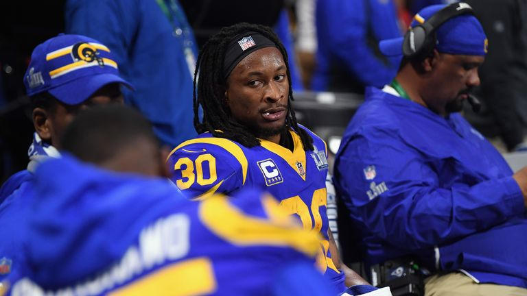 Todd Gurley rushed just 10 times for 35 yards in the Super Bowl