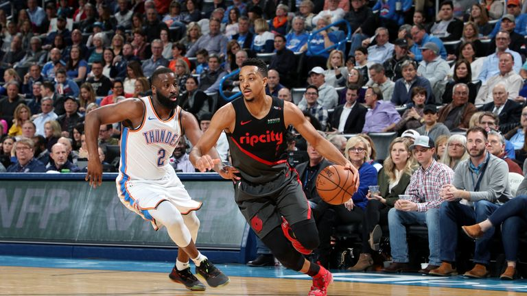 Russell Westbrook and Paul George post triple-doubles to lead Oklahoma City Thunder to victory over Portland Trail Blazers | NBA News |