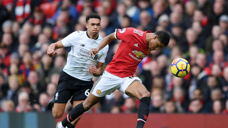 Trent Alexander-Arnold had a hard time against Marcus Rashford at Old Trafford in 2018