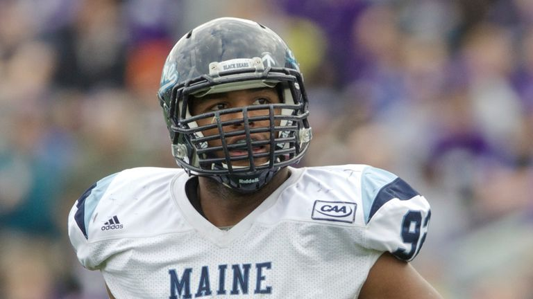Trevor Bates played college football at the University of Maine, and joined the Detroit Lions last year