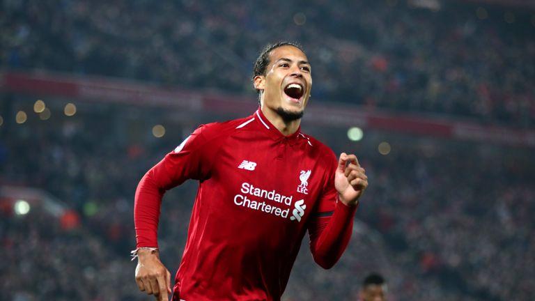 Virgil Van Dijk Targets More Goals For Liverpool Ahead Of Merseyside Derby Against Everton Football News Sky Sports