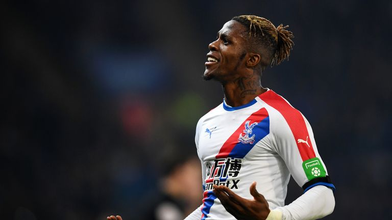 Wilfried Zaha was Palace's main man against Leicester
