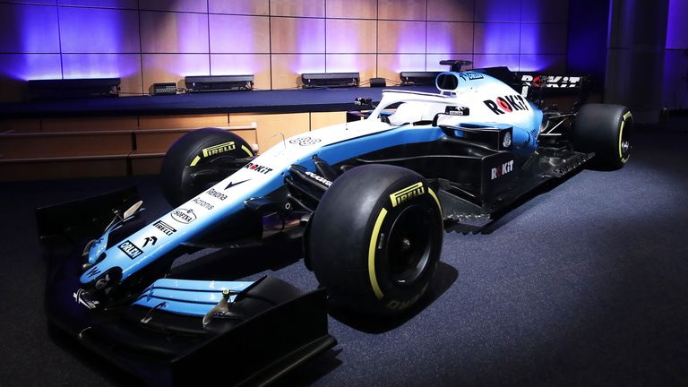 Unveiling of the new livery during the Williams 2019 livery launch